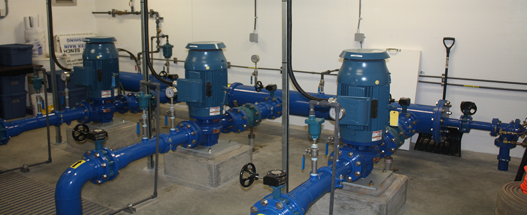 Water and wastewater projects like the West Bench Booster Station completed by Cumming Construction of Penticton BC
